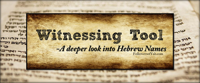 A Deeper looks into Hebrew Names