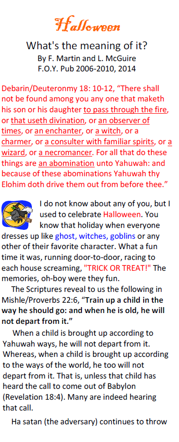 halloween whats the meaning of it anyway tract foy publications