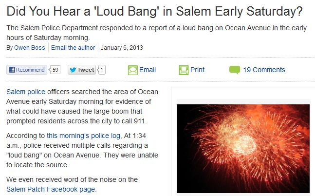 http://salem.patch.com/articles/did-you-hear-a-loud-bang-eary-saturday-morning