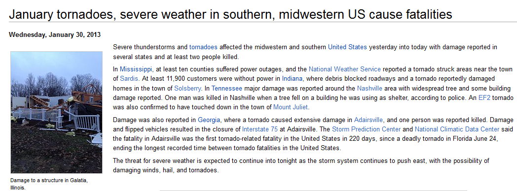 http://en.wikinews.org/wiki/January_tornadoes,_severe_weather_in_southern,_midwestern_US_cause_fatalities?dpl_id=659267