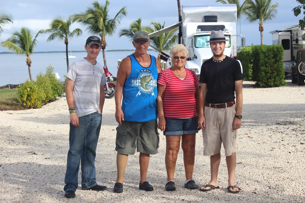 (left to right) Daniel, Ed & his wife Joyce, and Michael
