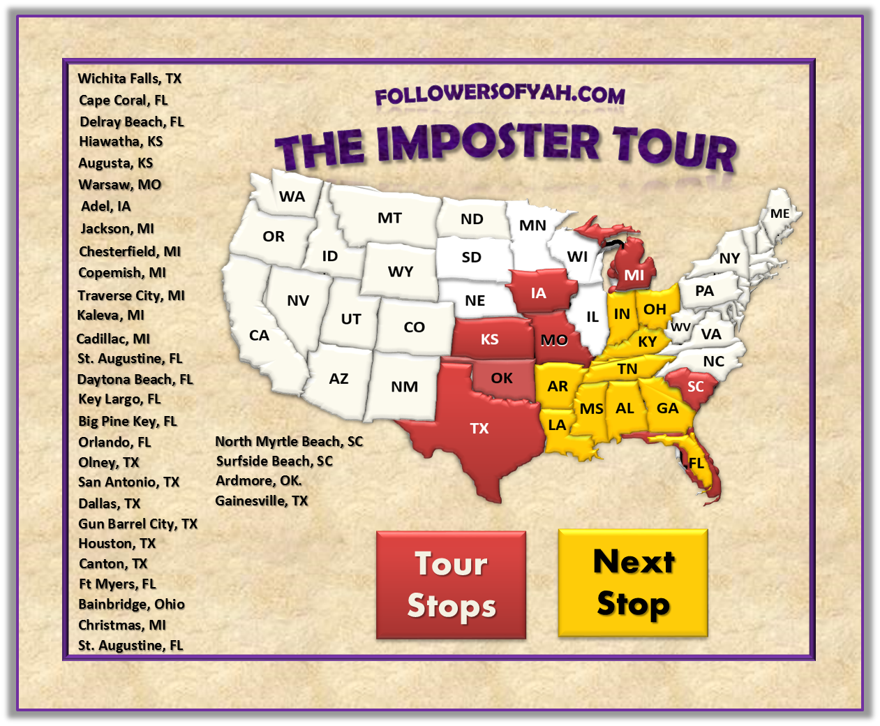 Fellowship  The Imposter Tour